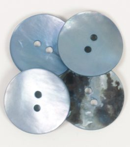 Gumb Drops 612 okrugli plavi 20 mm sedef