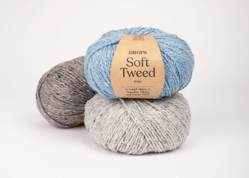 Pređa za pletenje i kukičanje Drops Soft Tweed